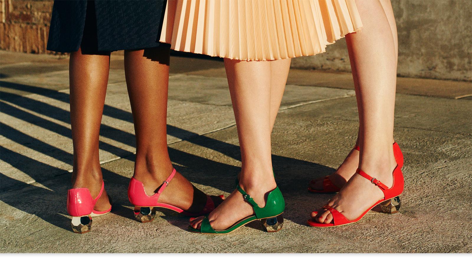Frances Valentine Beatrix Jeweled Heel Leather Sandal 0OeTP